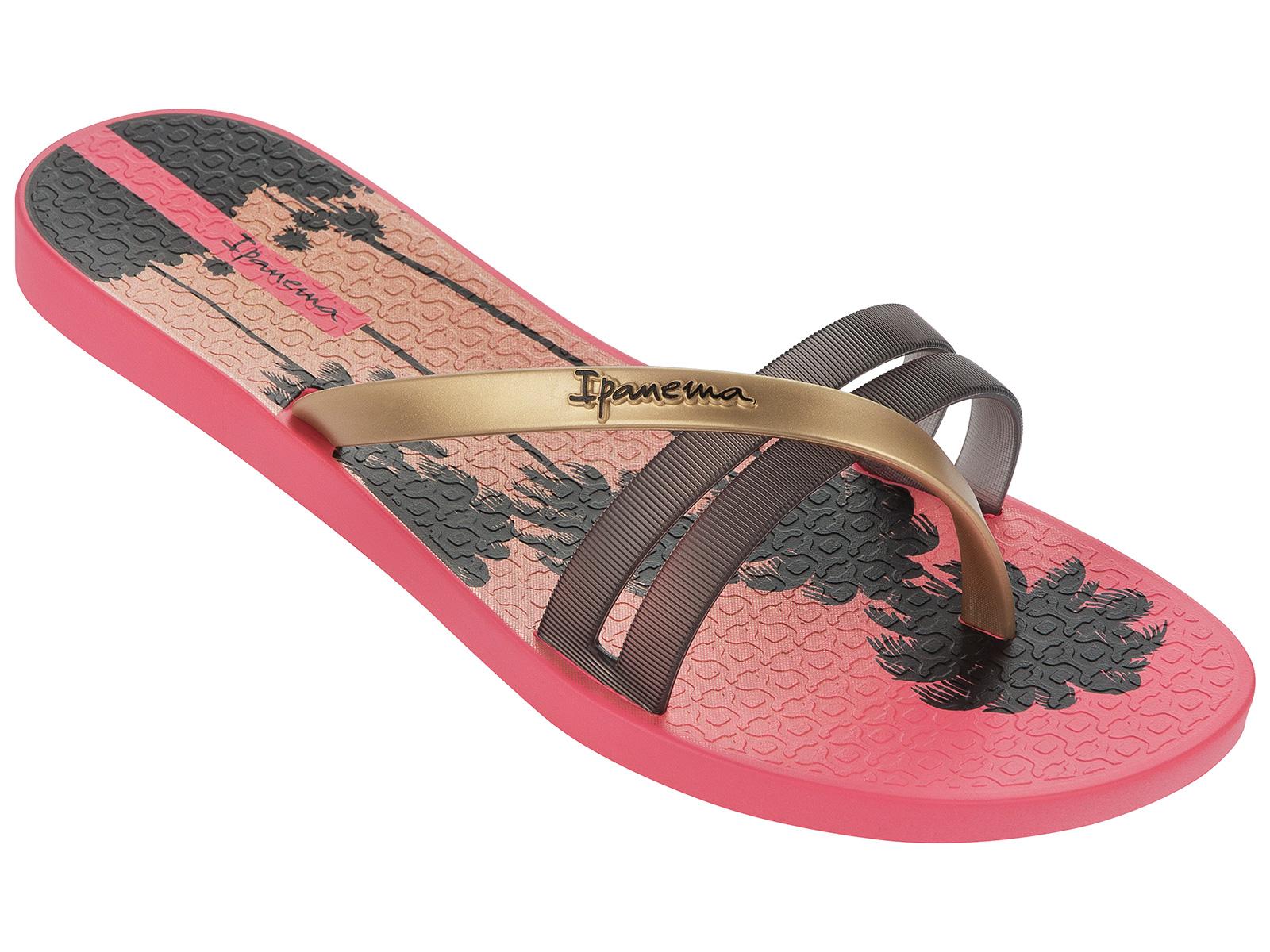 Flip-Flops - Ipanema Flip Print Fem Pink/Black ...