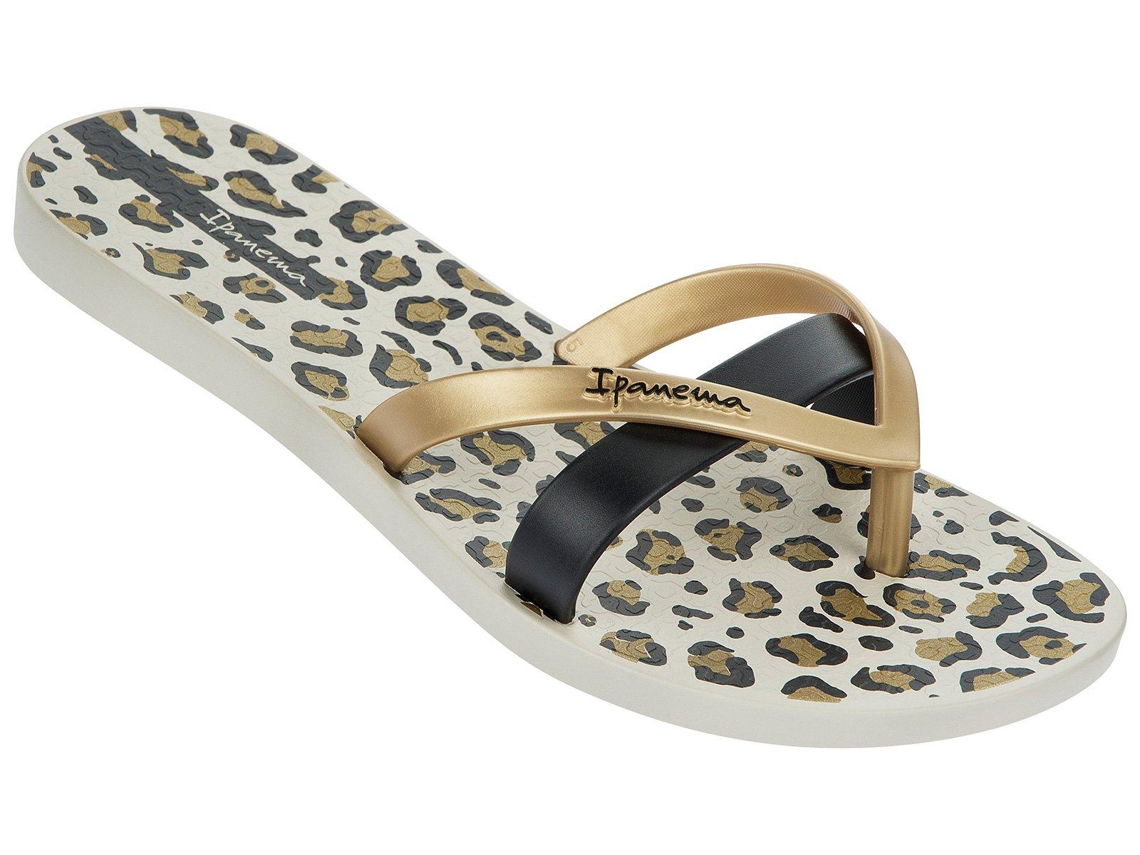 ipanema flip flops ipanema kirey silk fem beige gold black. Black Bedroom Furniture Sets. Home Design Ideas