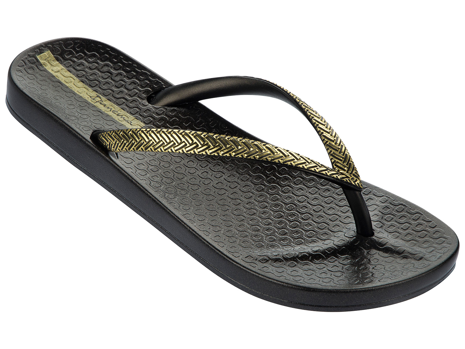 Flip-Flops Flip-Flops - Ipanema Mesh Fem Blackgold - Brand Ipanema-6277