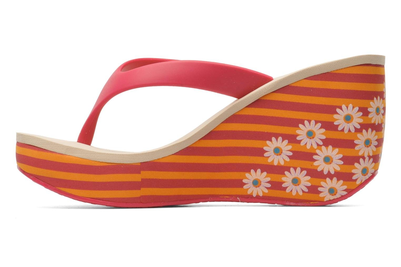 orange rosa flipflops mit blumen streifen und. Black Bedroom Furniture Sets. Home Design Ideas