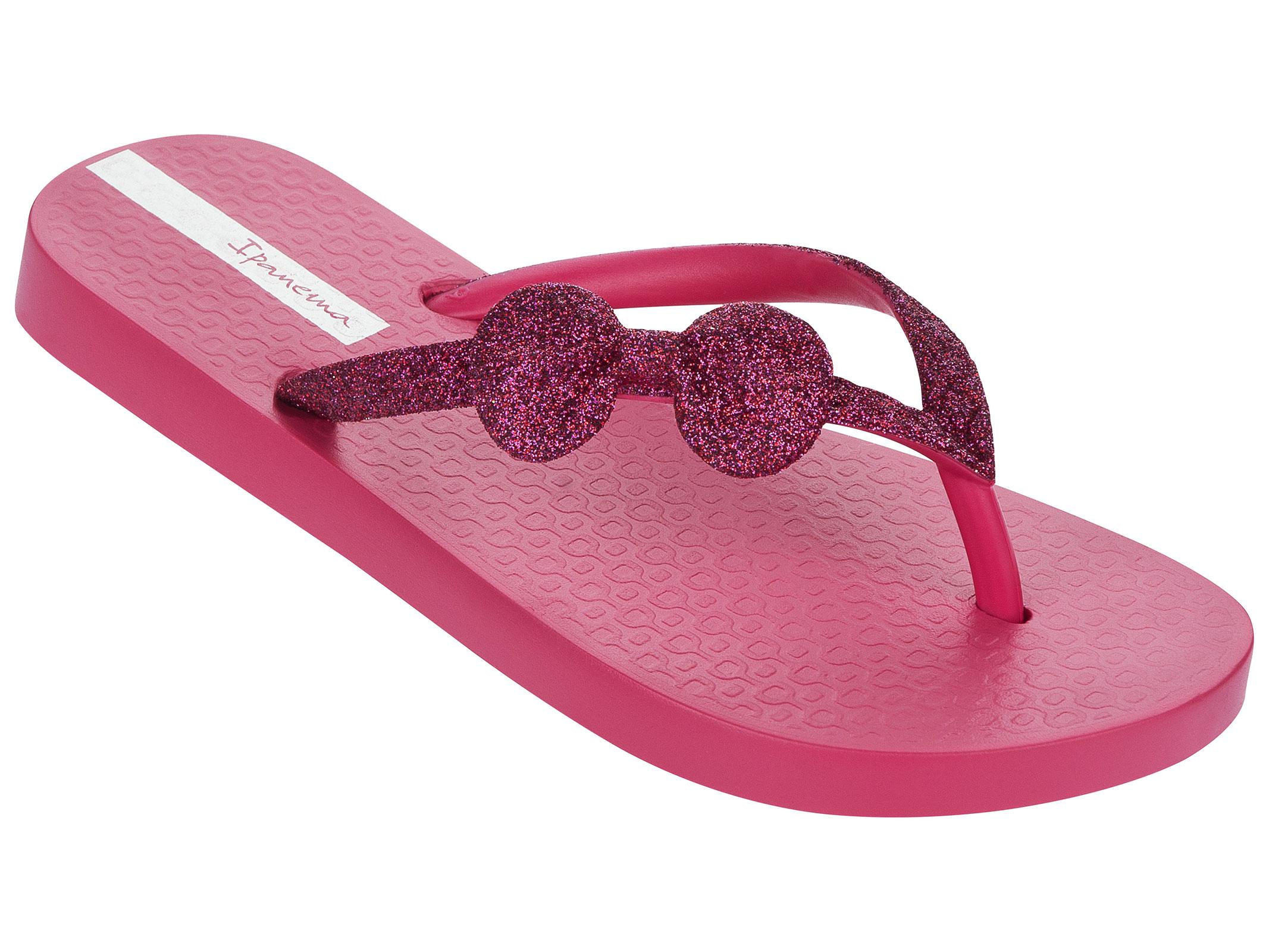 dunkelrosa flipflops mit schleife und glitzer lolita ii kids pink darkpink. Black Bedroom Furniture Sets. Home Design Ideas