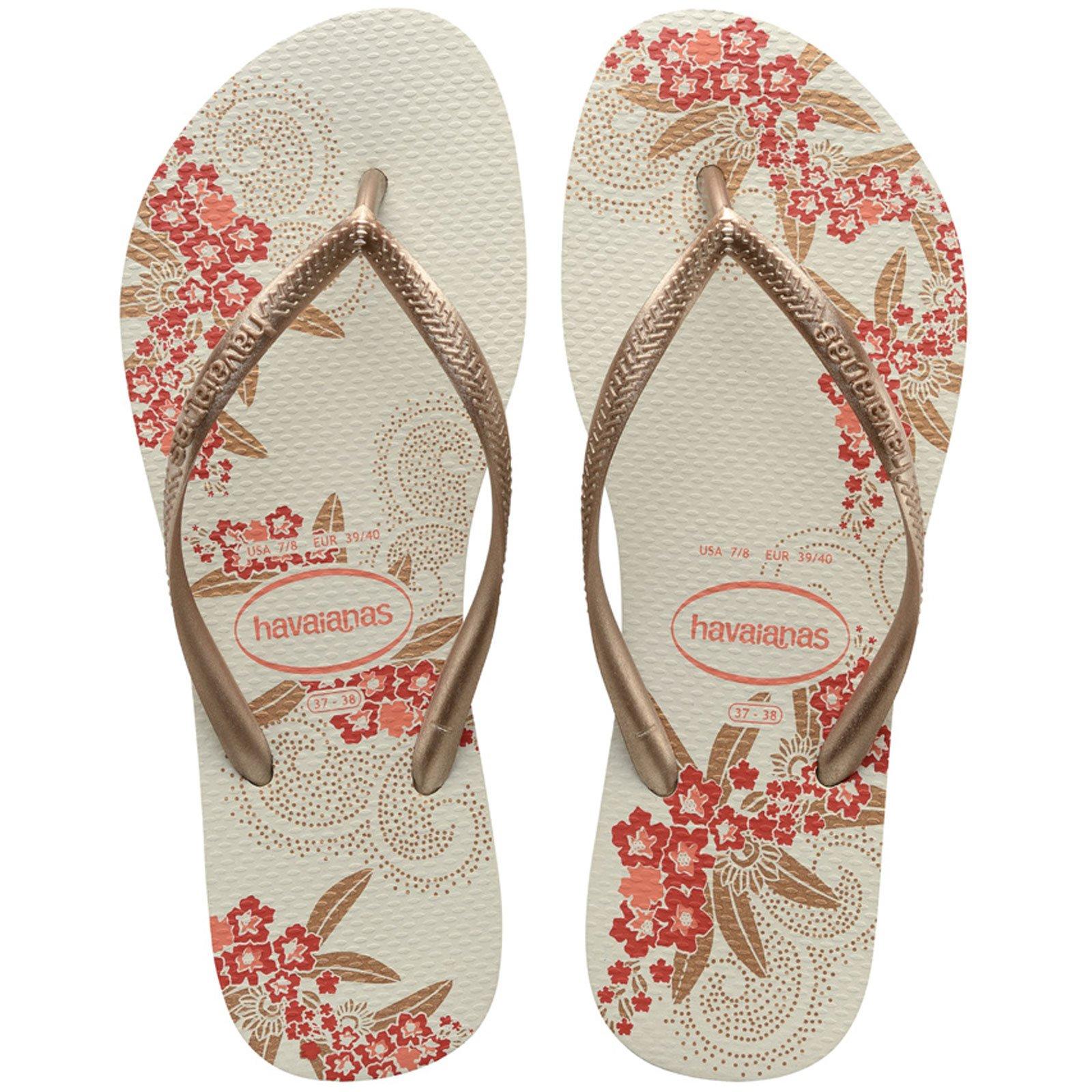 Flip-Flops Slim Organic White-Rose Gold-Rose Gold - Brand -7139