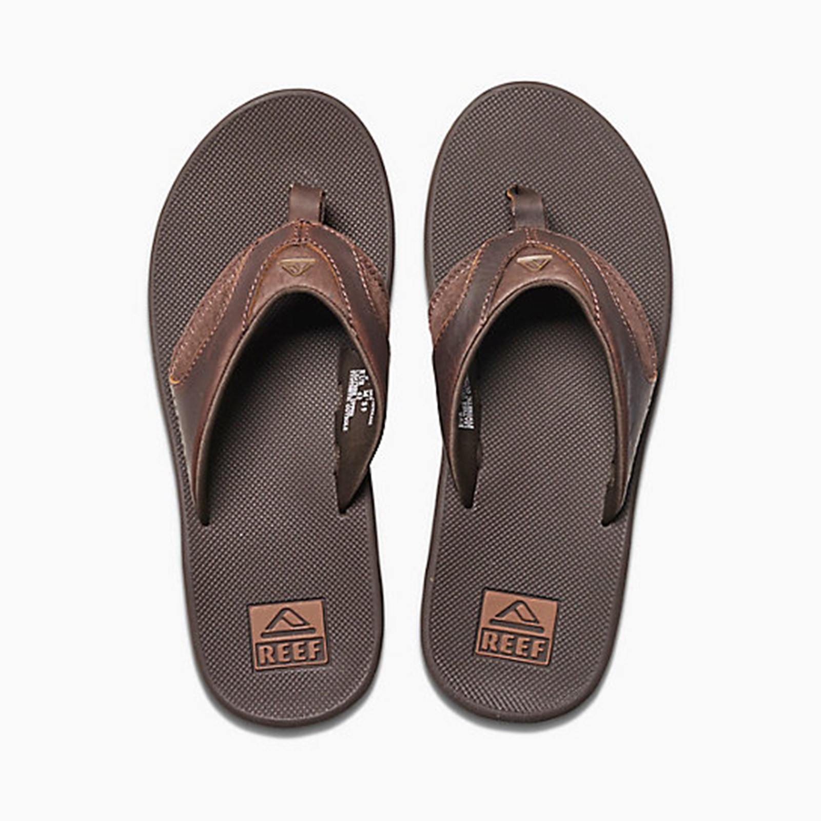 7c98240cbf2c ... Brown flip-flops with integrated bottle opener - LEATHER FANNING BROWN. Size  Size Guide