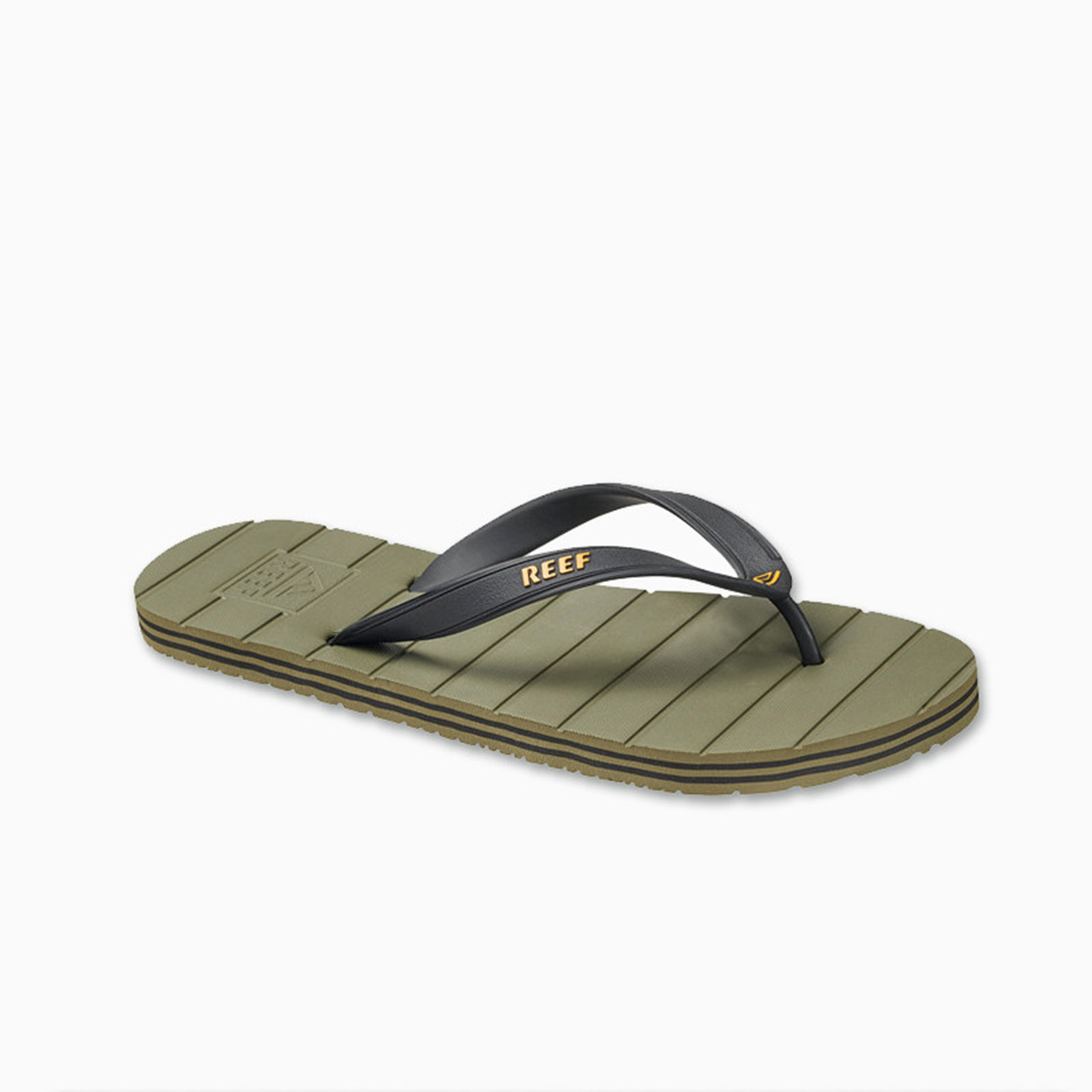 97dd55713335b Comfort green olive flip-flops without PVC - REEF SWITCHFOOT OLIVE/GOLD ...
