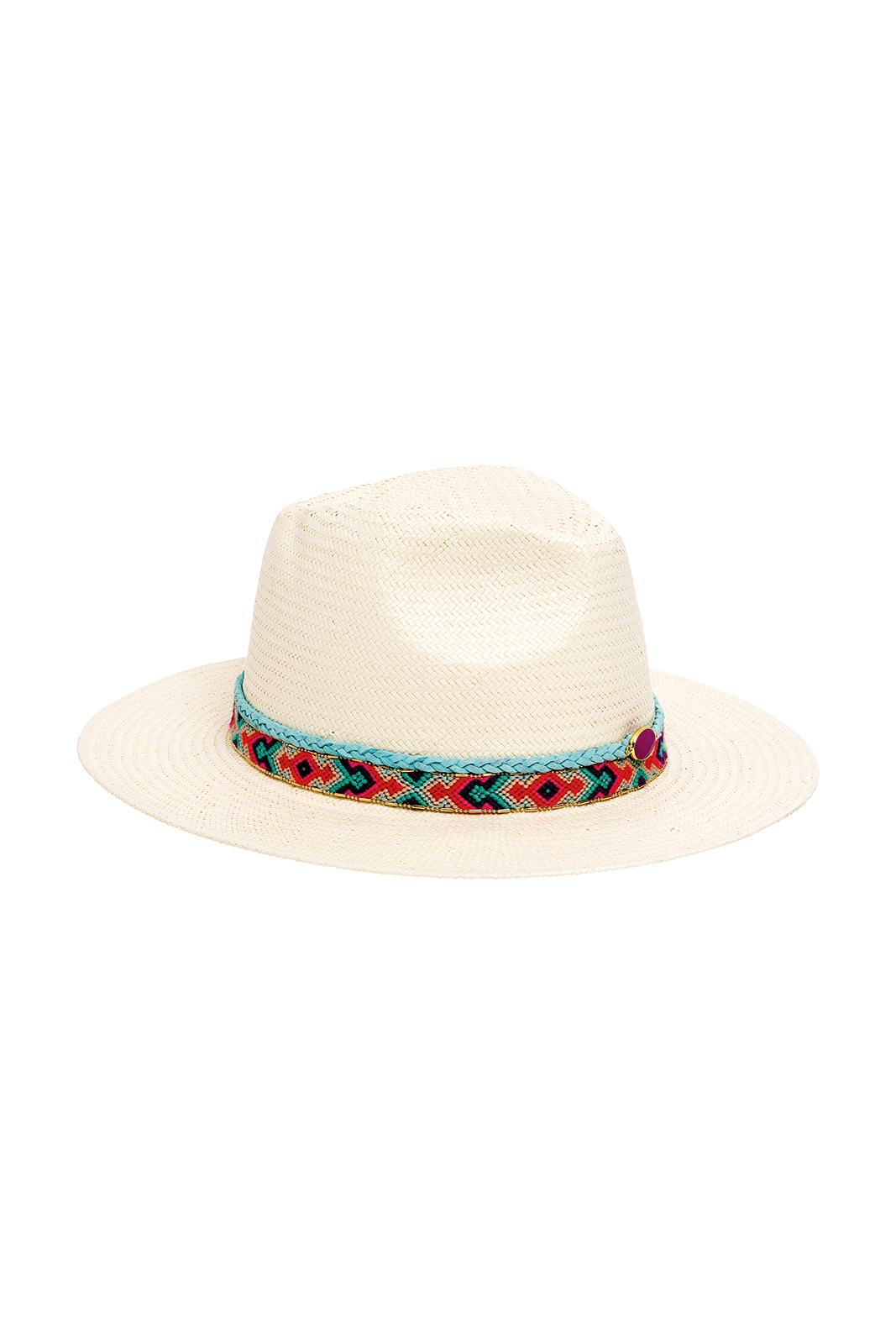 5d6b1ce8 Hat White Straw Hat With Brazilian Belt - Samba White - Brand Amenapih