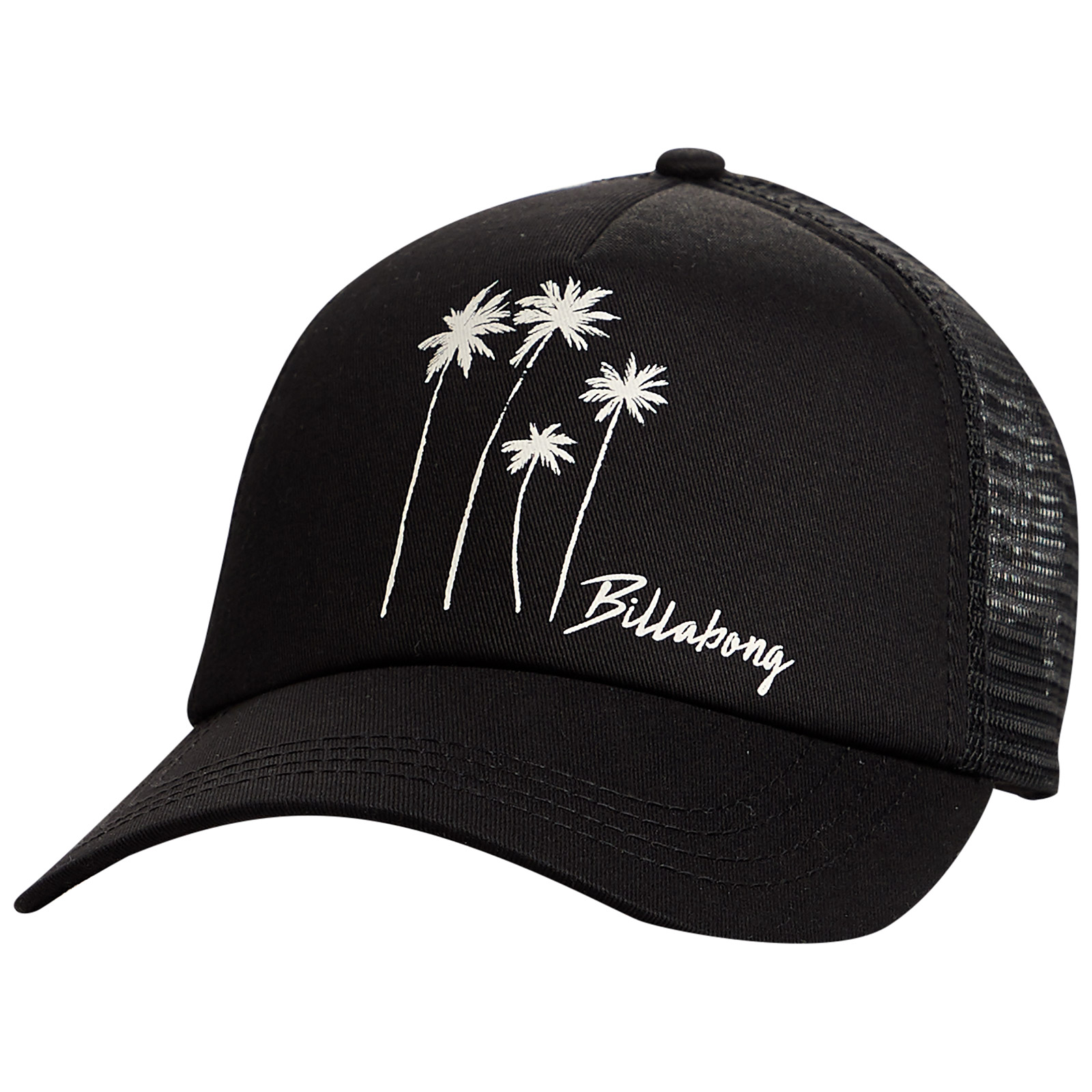 b3cfaf0d03b158 ... Black trucker cap with palm trees and back mesh - ALOHA FOREVER BLACK  MULTI