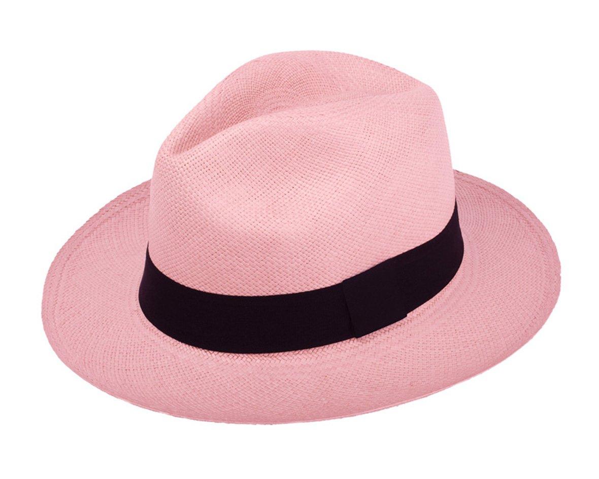 533776bf Genuine Light Pink Panama Hat Made From Toquilla Straw - Panama Rose ...