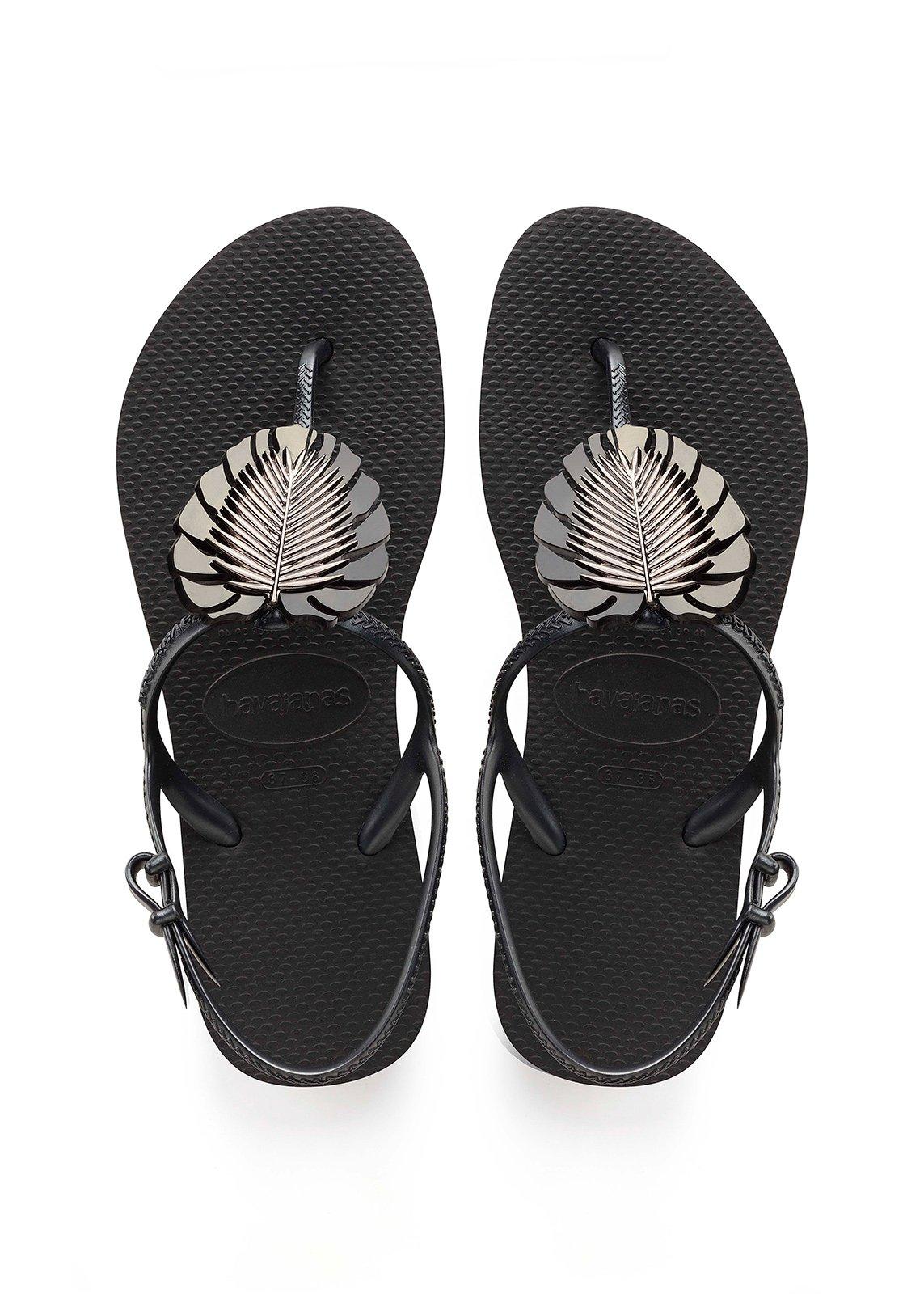 eb54de3df Flip-Flops Havaianas Freedom Metal Pin Black - Brand Havaianas