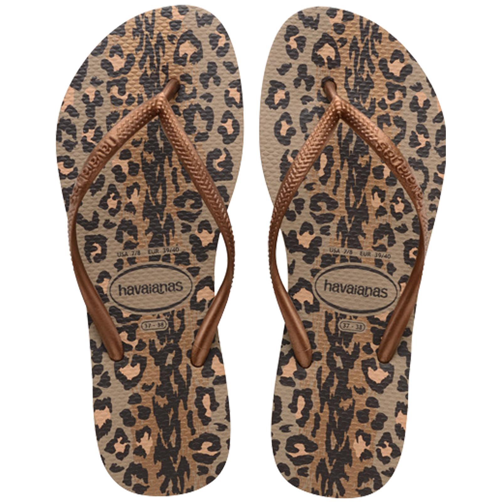 a24f618752de92 Flip-Flops Slim Animals Rose Gold-dark Copper - Brand Havaianas