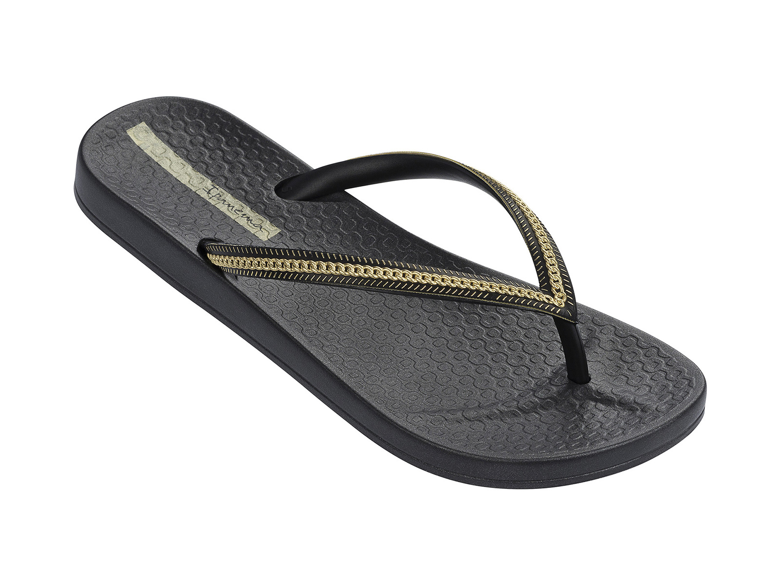 b04353ab5 Flip-Flops Ana Metallic Fem - Black - Gold - Brand Ipanema