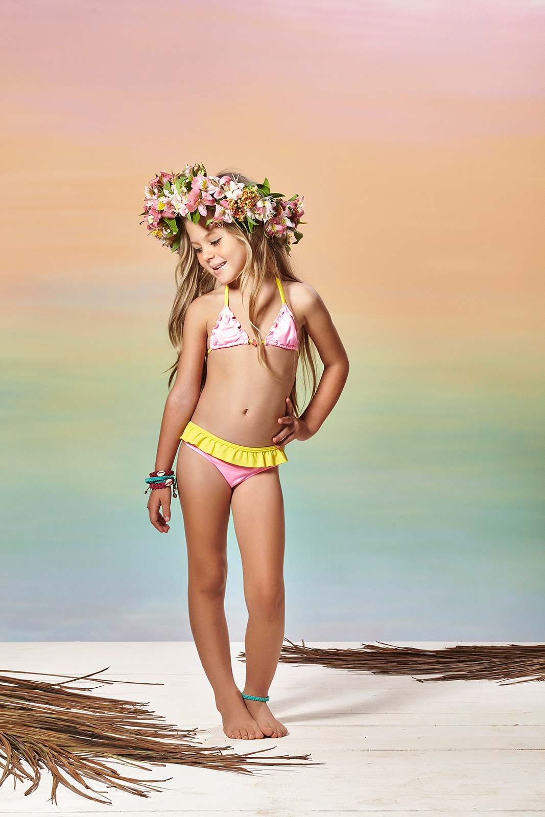Little Girls Swimsuits Two Piece Bikinis View Image