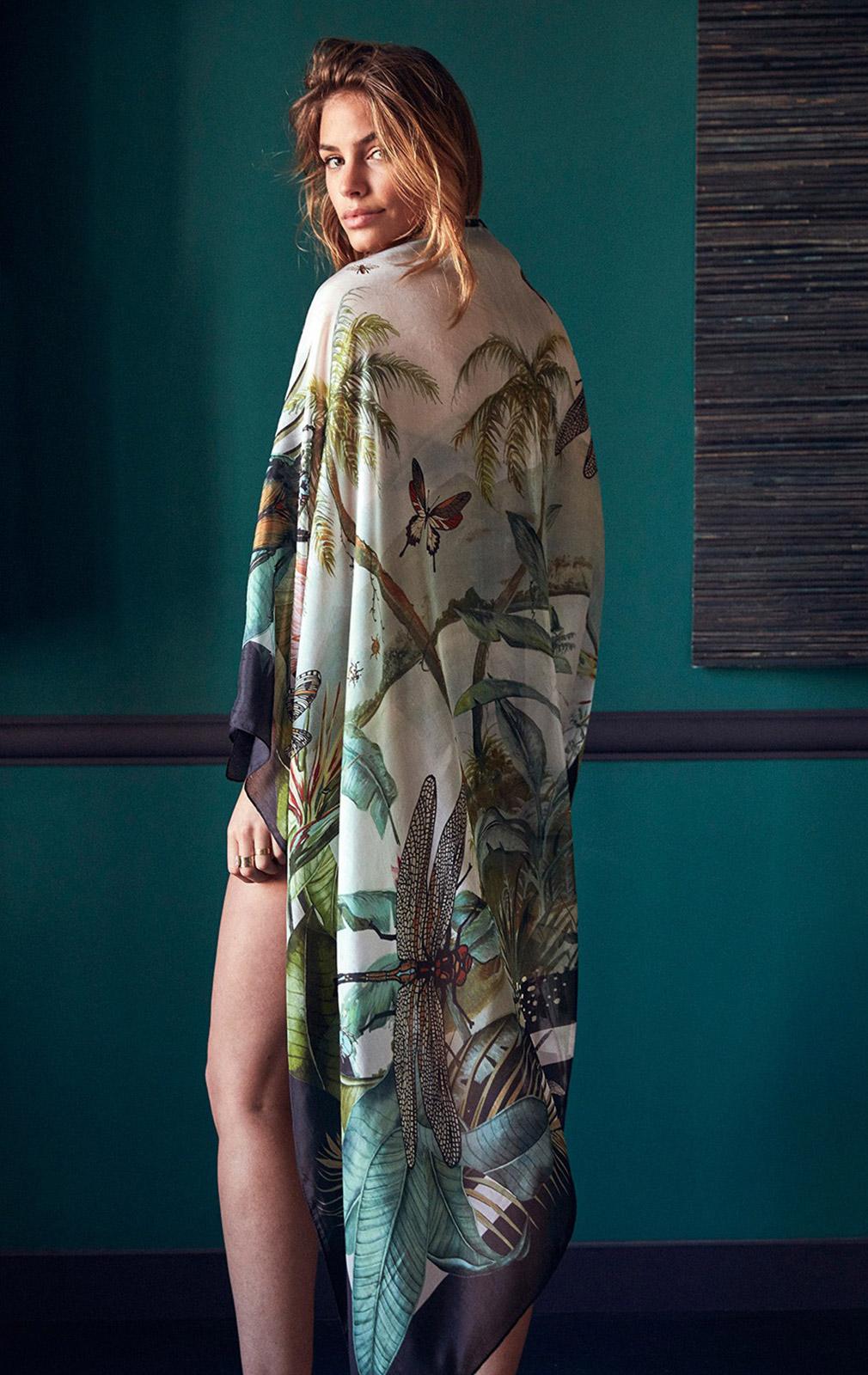 4319c937d1 ... Maillot bustier noir et plumetis, foulard 100% soie - MACHA BLACK ...
