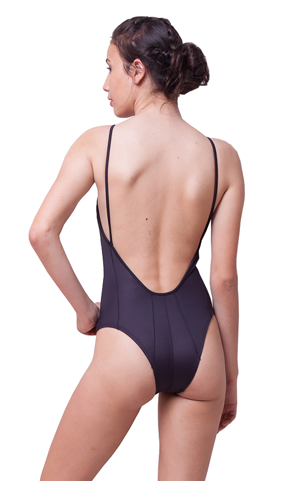 350b045006fe5 ... Luxurious black textured one-piece swimsuit - NEOPRENE TEXTURED BLACK