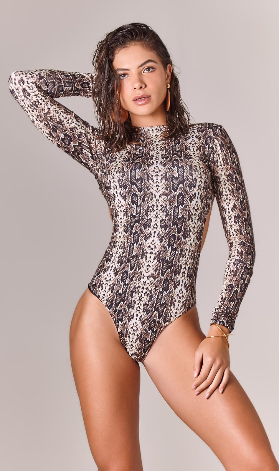 long sleeve one piece swimsuit