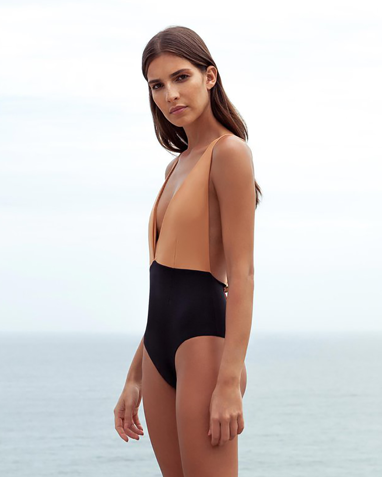 4bcaebdc0b 1-piece Swimsuit With A Plunging Neckline - Maio Marina Bicolor - HAIGHT