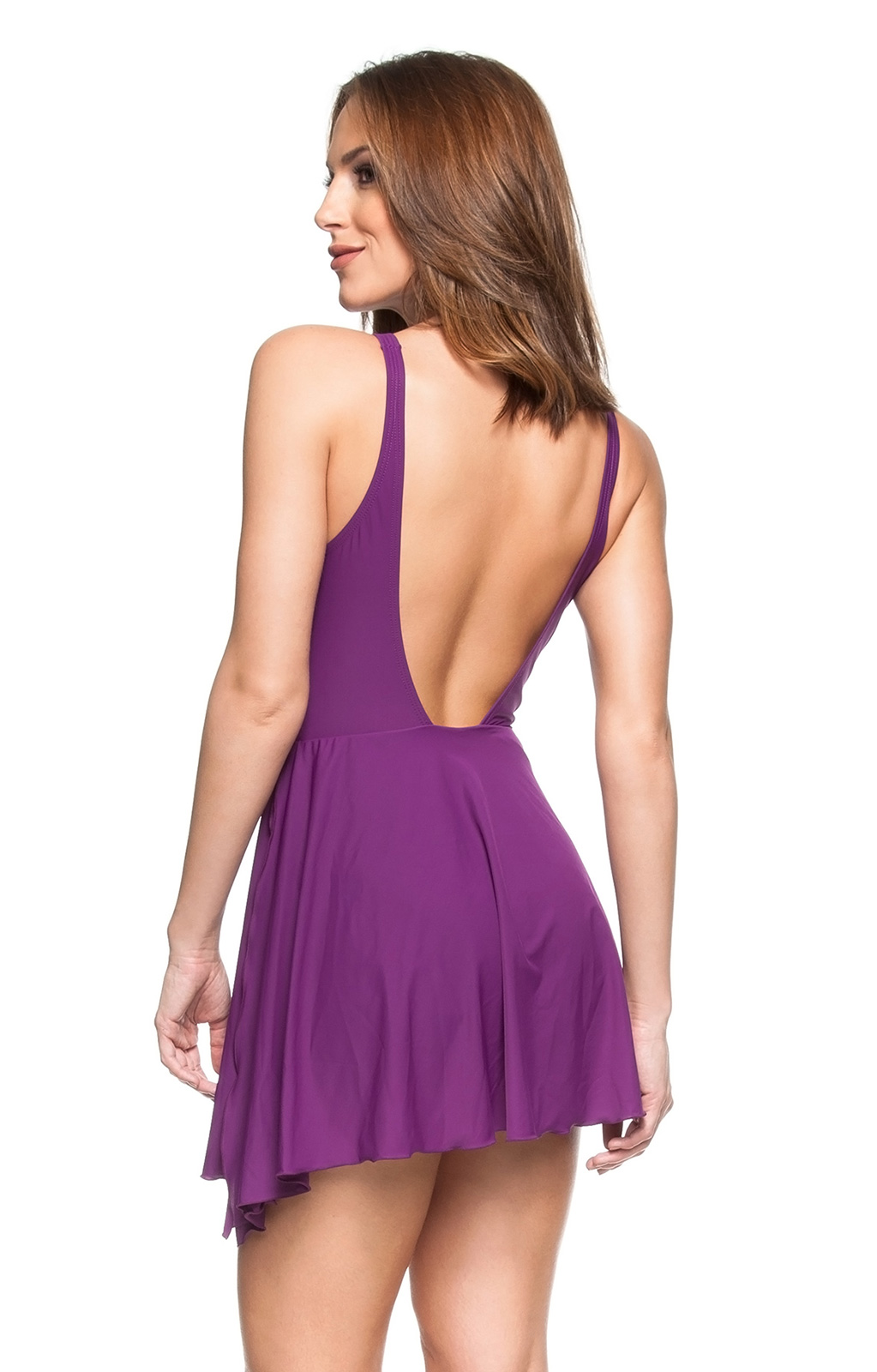 ecccf547a8 One piece swimsuits Purple Tie-waisted One-piece Swimsuit - Salsa