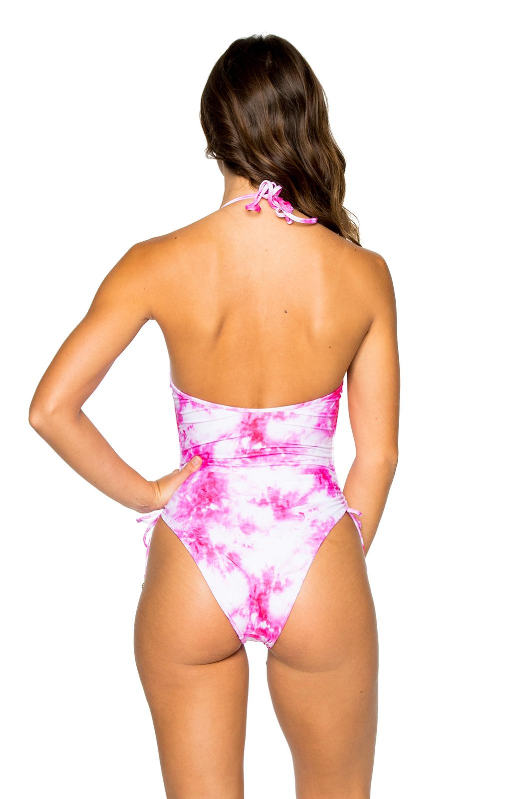 4dd09ff9753 ... Reversible pink tie-dye one-piece swimsuit - HIGH LEG BAMBOLEO ...