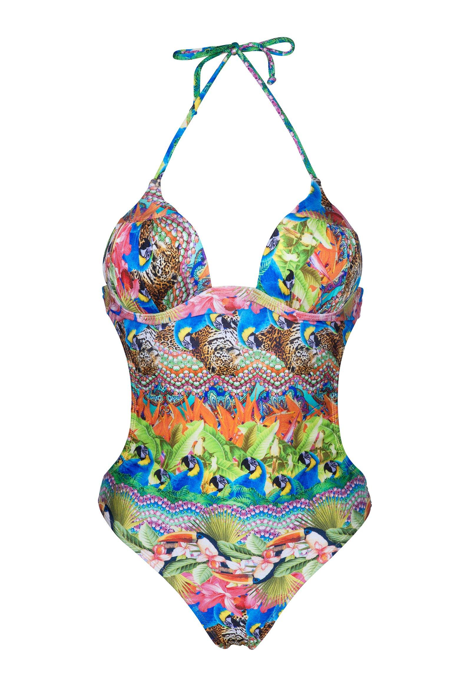 maillot de bain 1 pi ce trikini coques tropical et color annumbi. Black Bedroom Furniture Sets. Home Design Ideas