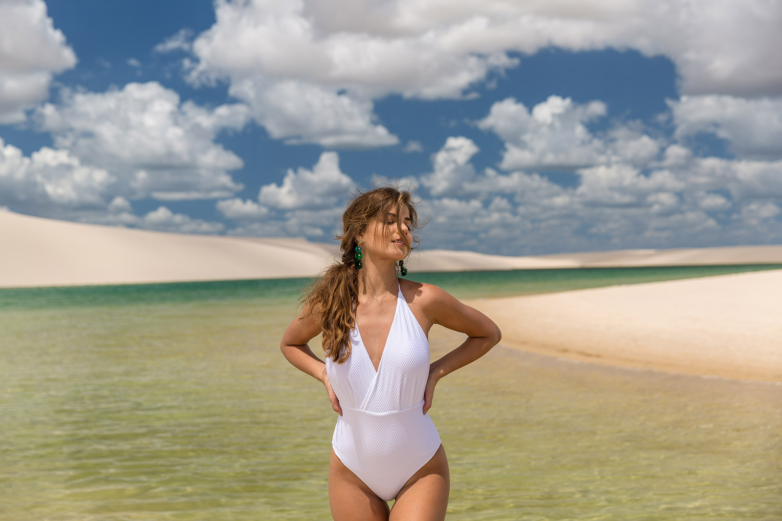 Skye Womens Plus-Size Surface One Piece Swimsuit