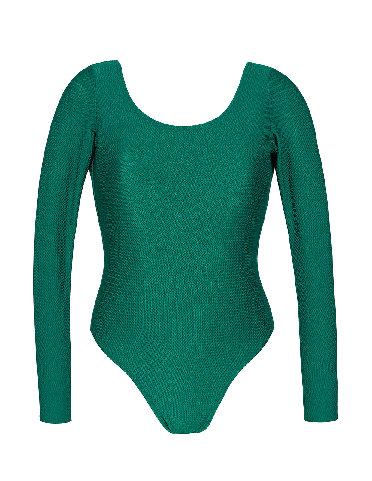 241c4a2f723e3 Green textured bathing body glove with long sleeves - DUNA GREEN BODY ...