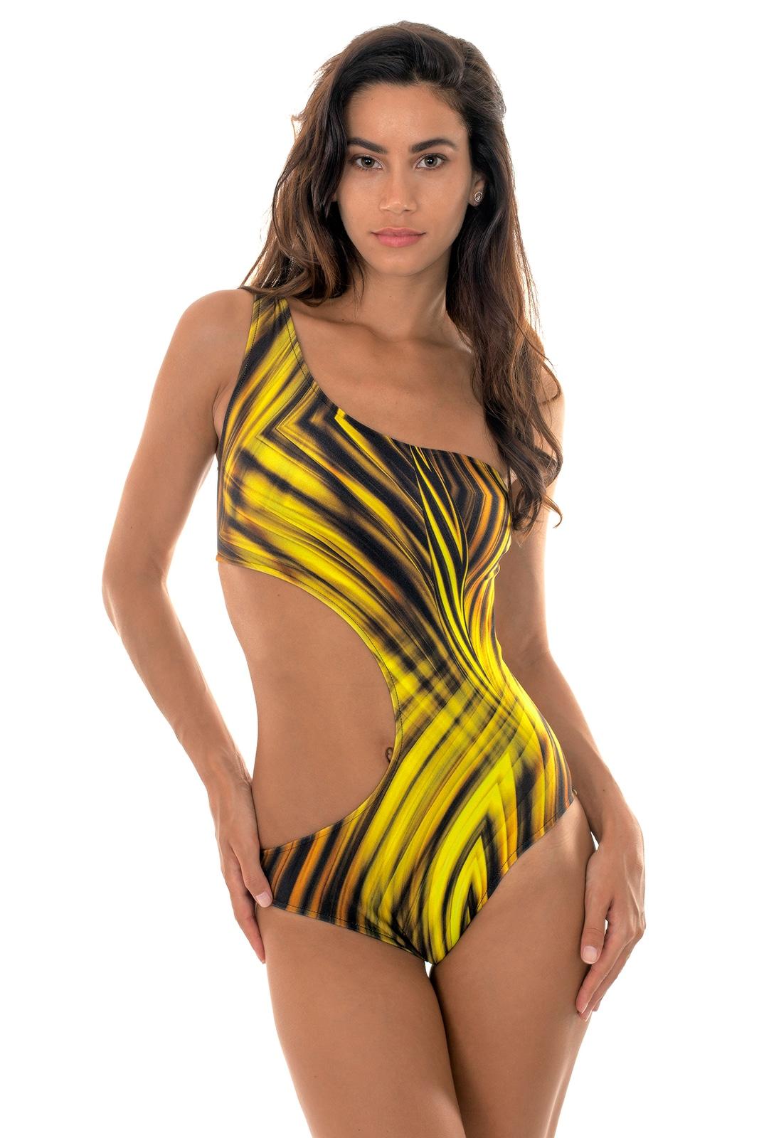 Rio de Sol maillot de bain 1 piece dore asymetrique one shoulder Acheter Pas Cher De Haute Qualité Acheter Pas Cher Pas Cher incroyable dHqhwP