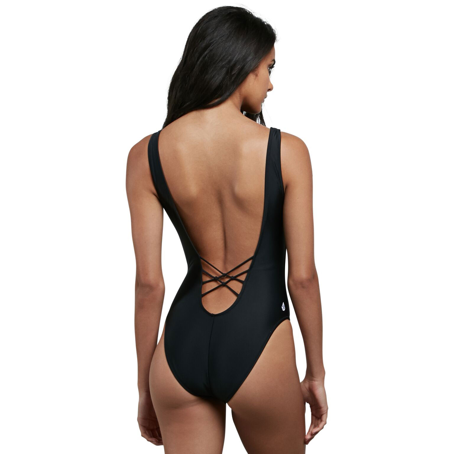 7182ea48d13be One piece swimsuits Simply Solid 1pc Black - Brand Volcom