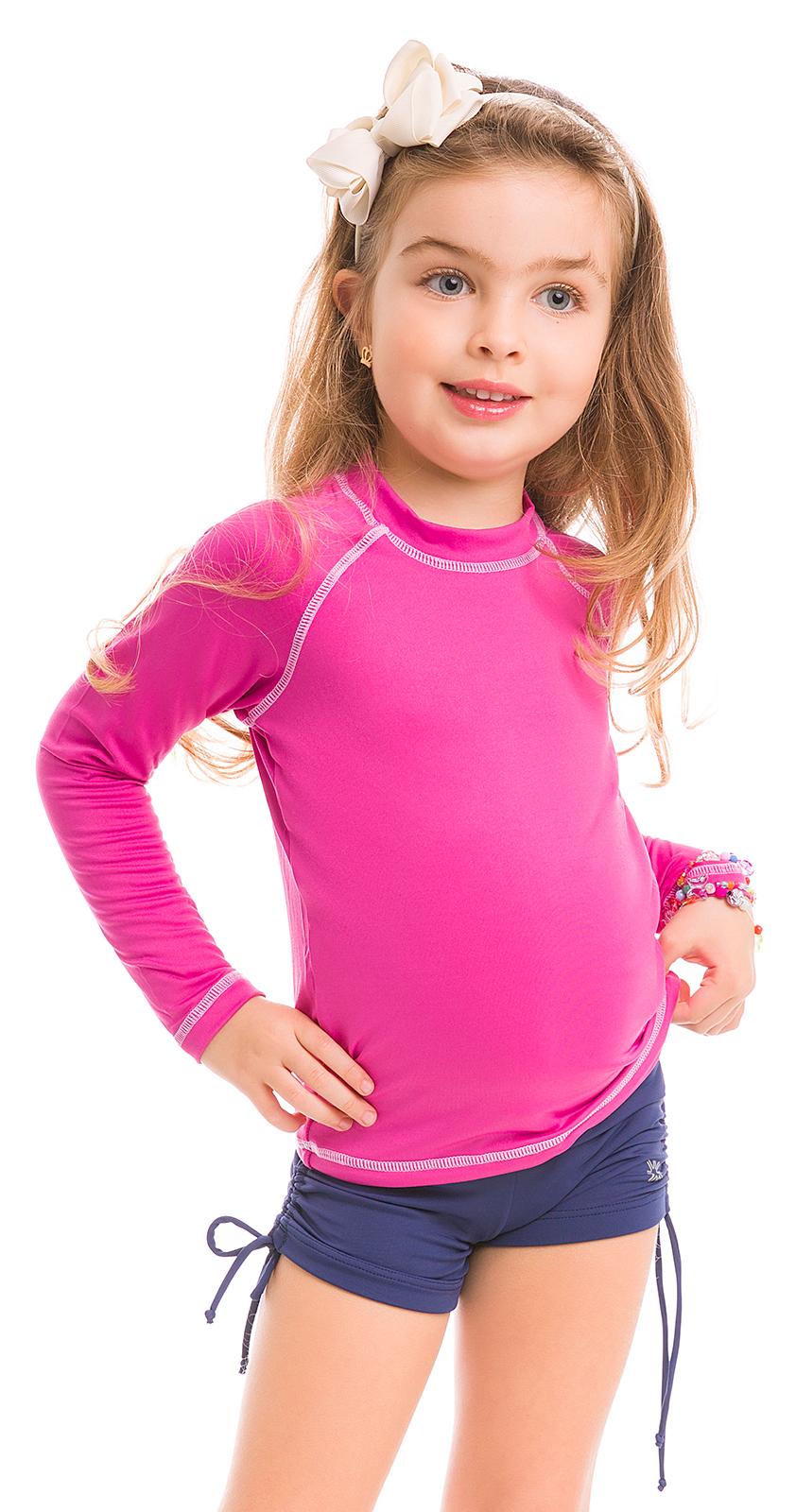 Pink Long Sleeve For Kids Spf50 Camiseta Rosa Solar Protection Uv line