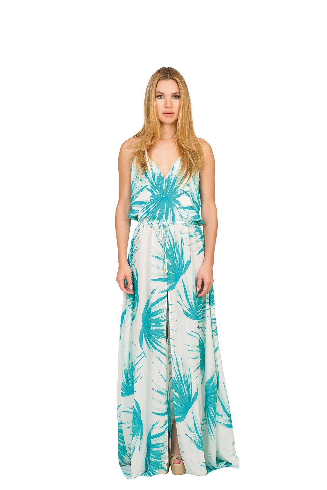 Vestido largo tropical