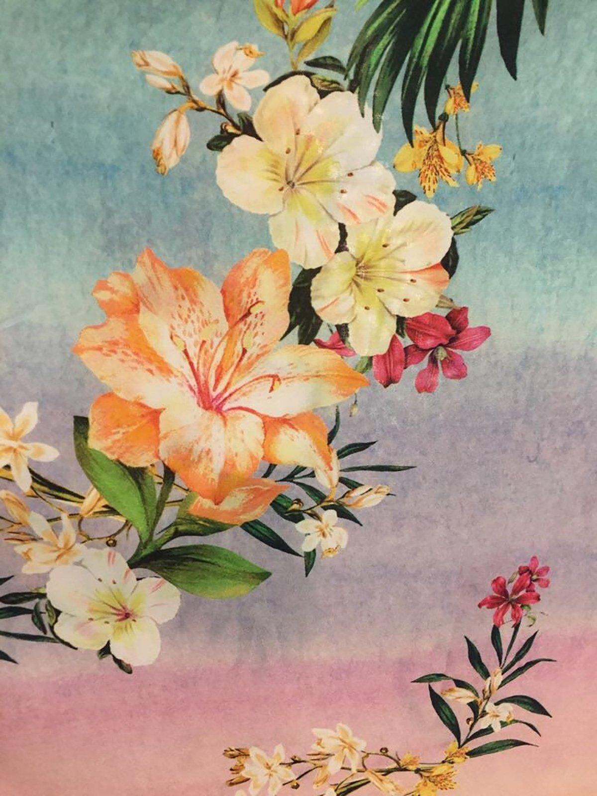 9ae0c3bc54 ... Long pastel gradient floral beach dress - VESTIDO LONGO HORIZONTE  FLORIDO ...