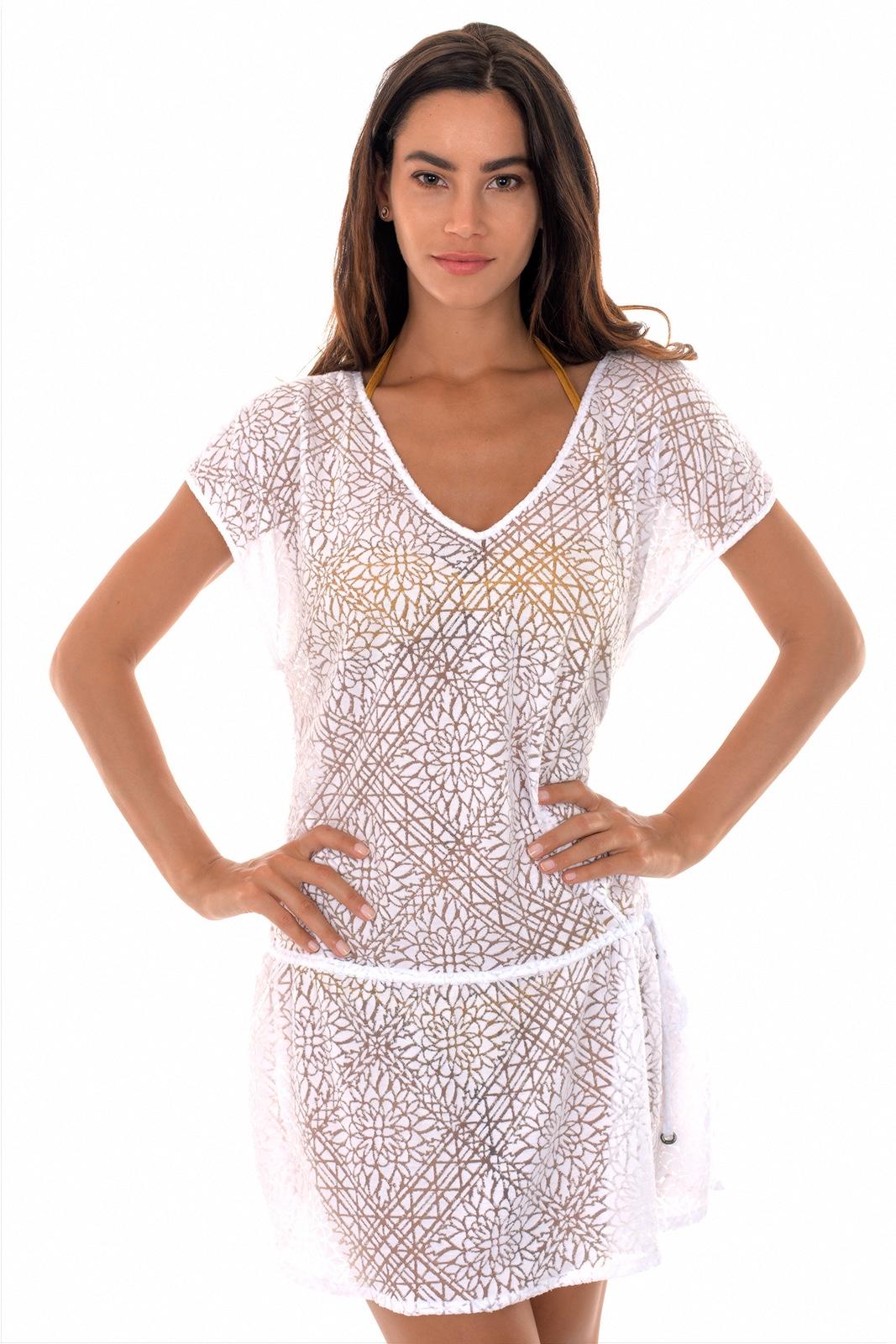robe fluide blanche fashion designs. Black Bedroom Furniture Sets. Home Design Ideas