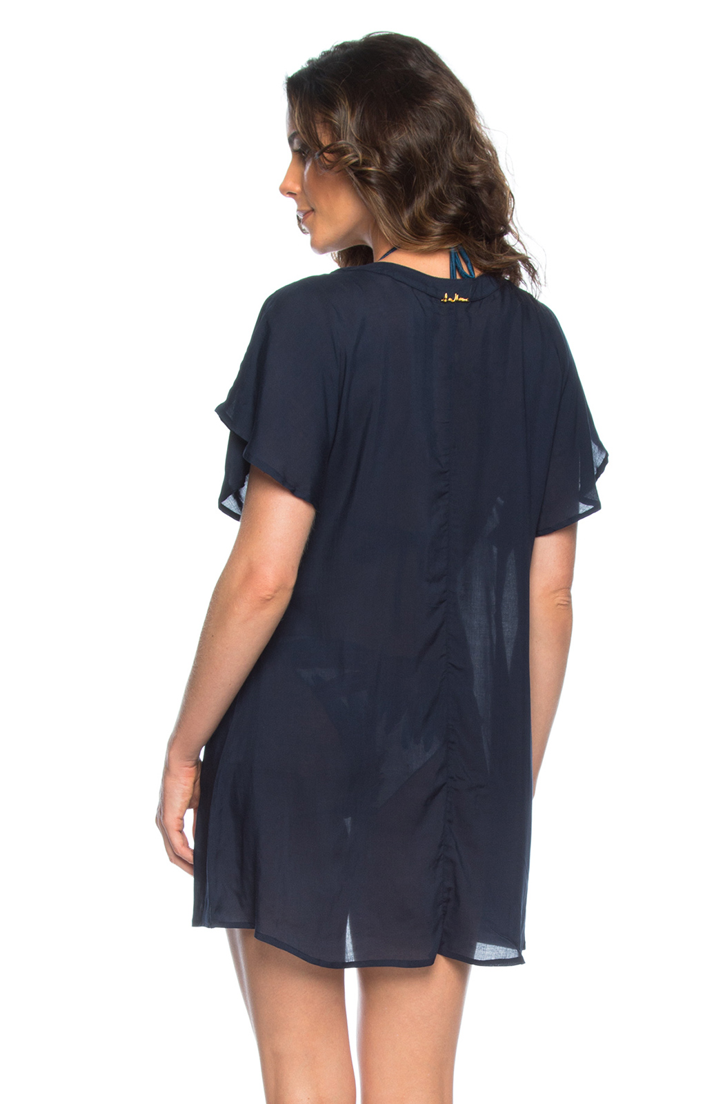 Robe bleu marine decollete