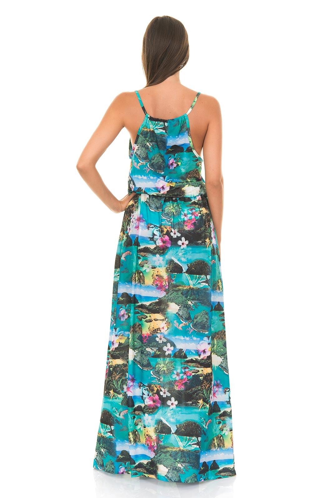 longue robe de plage maryssil imprim tropical fernando de noronha. Black Bedroom Furniture Sets. Home Design Ideas