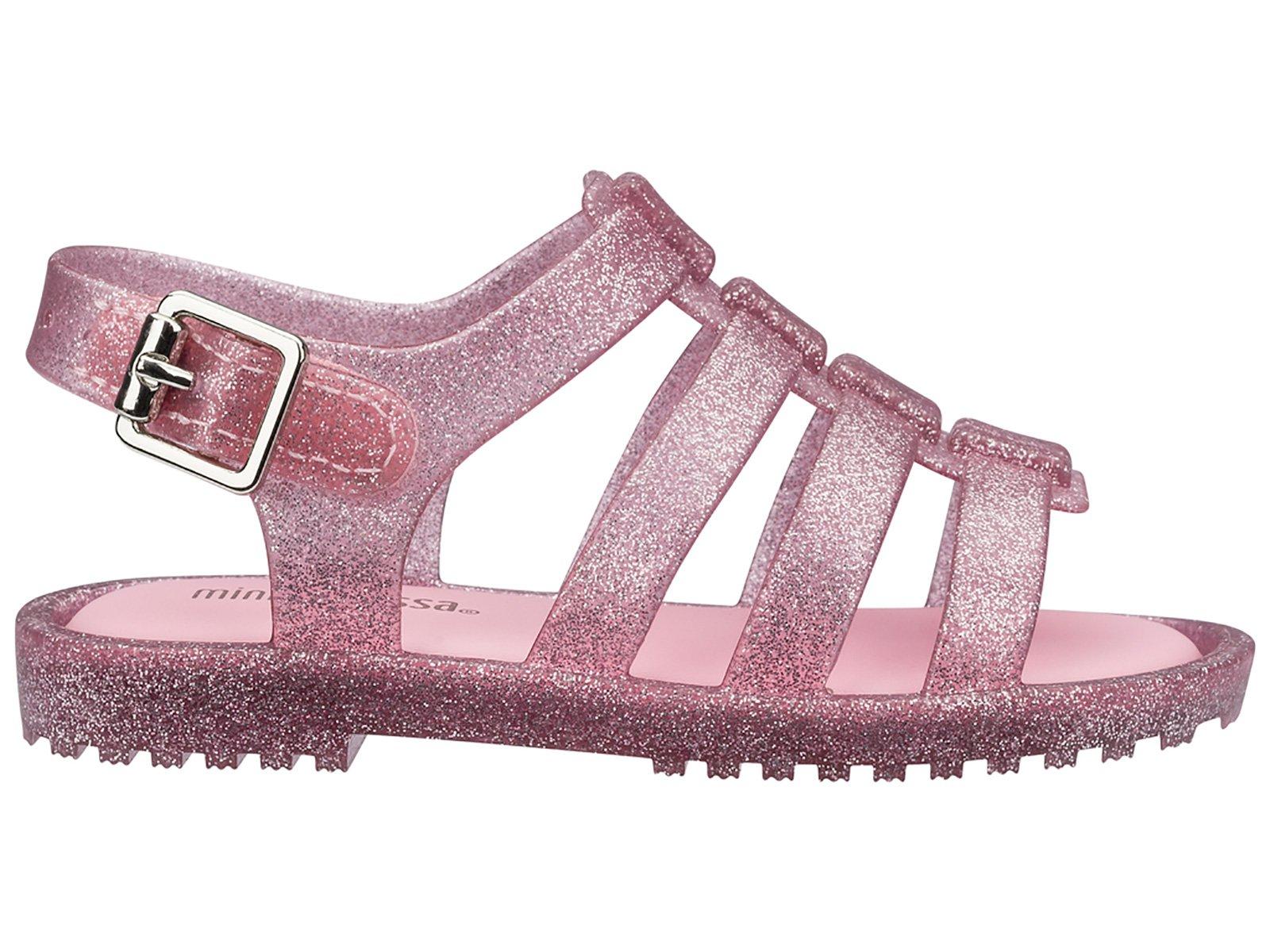 914ce93bd4dc Sandaler Baby Melissa Flox Pink glitter Silver - Mærket Melissa