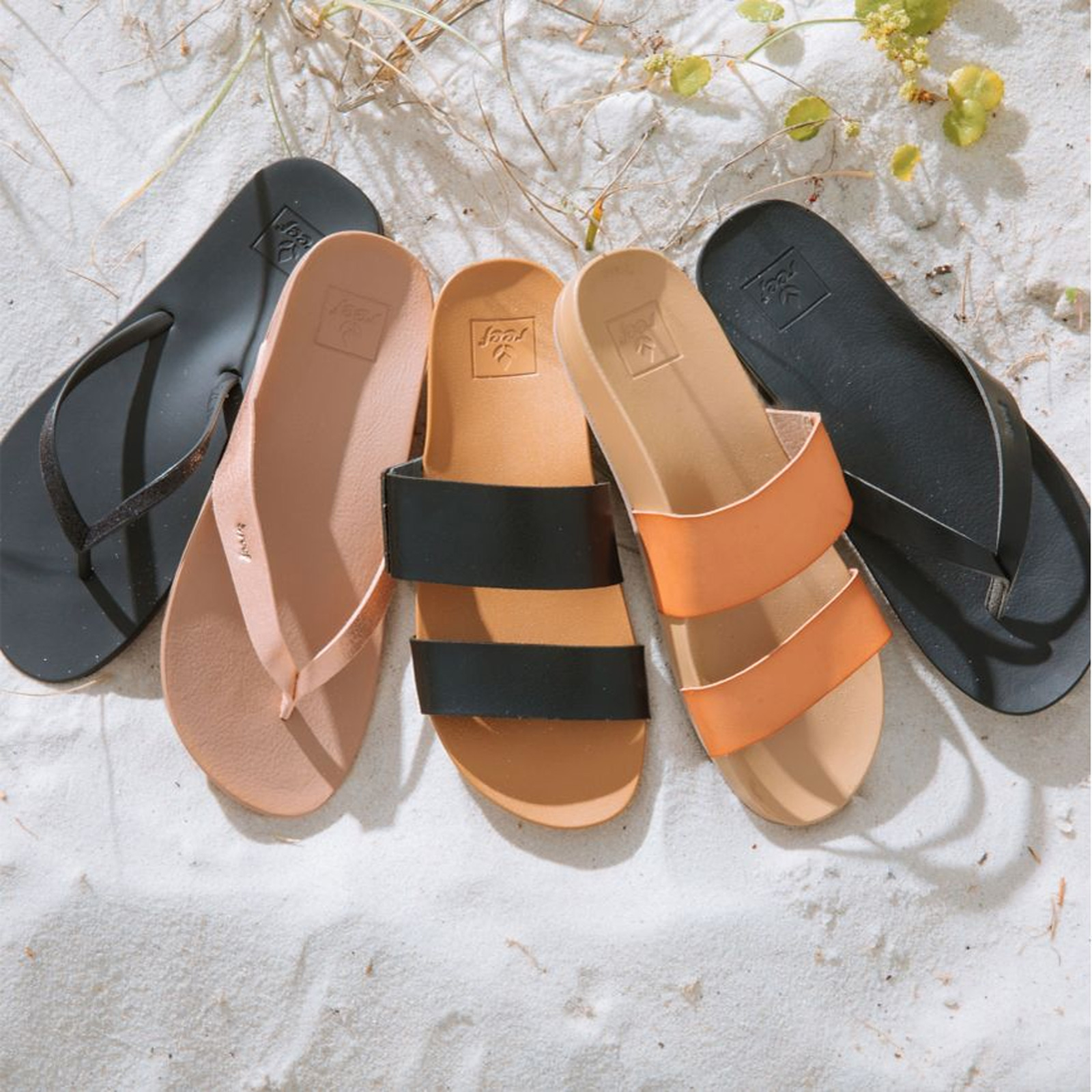 Anatomic Flip Flops With Beige Straps From Natural Vegan Leather Cushion Bounce Vista Natural