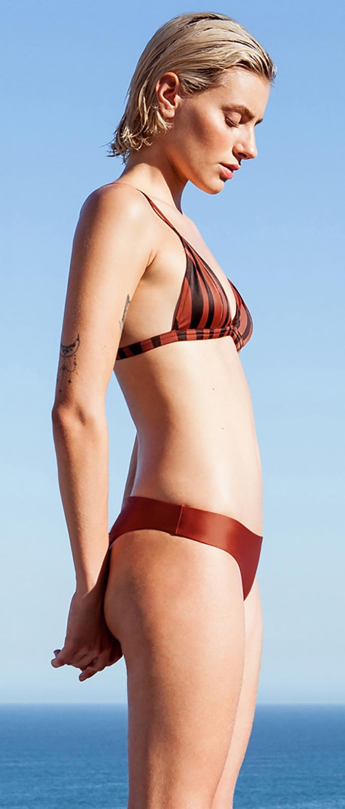 Bikini con top reversibile