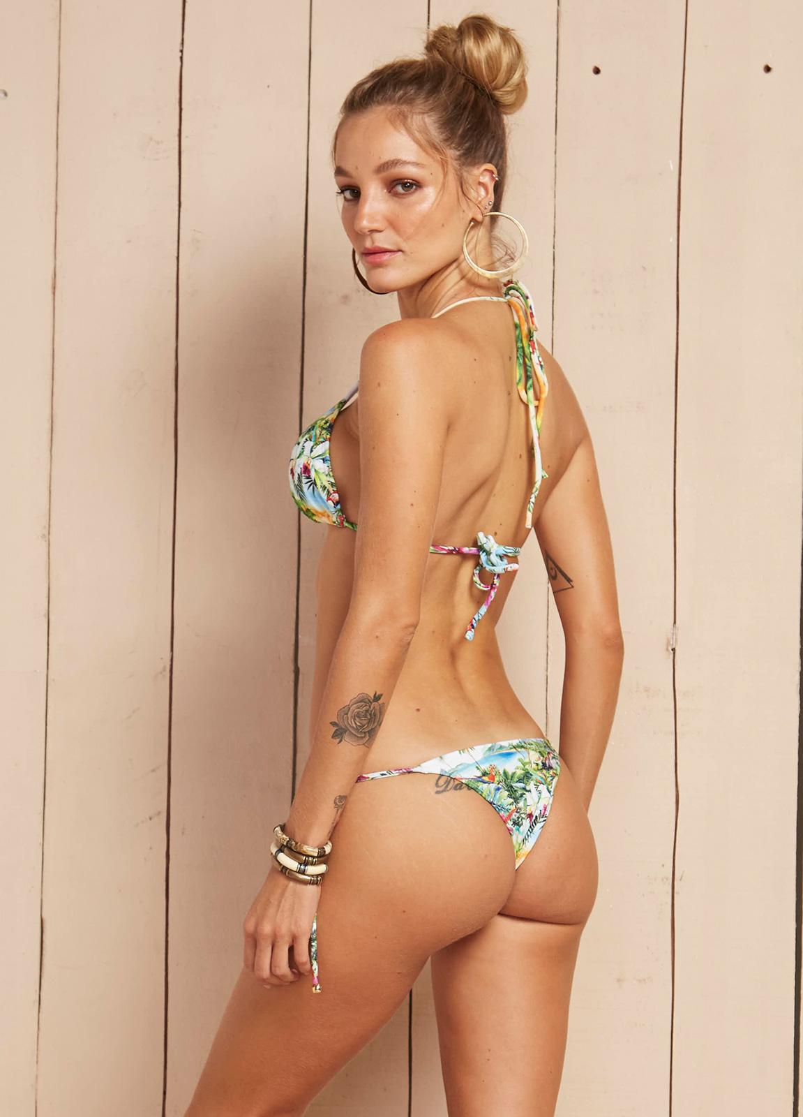 8fe860df42 ... Tropical print Brazilian bikini with tie-side bottoms - AGUAS DE MARCO  ...