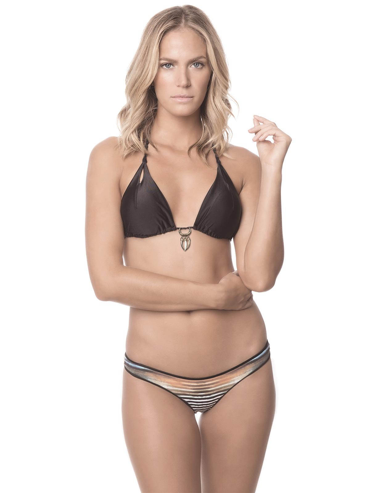 svart triangel bikini