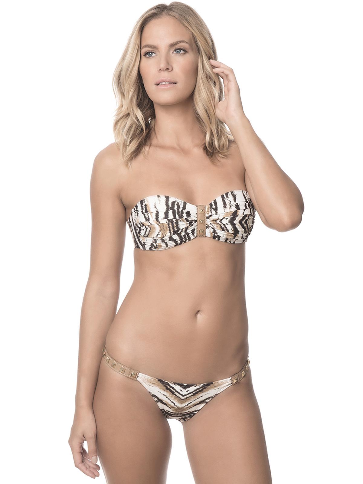 bandeau bikini mit tiermotiven leder und vergoldeten. Black Bedroom Furniture Sets. Home Design Ideas