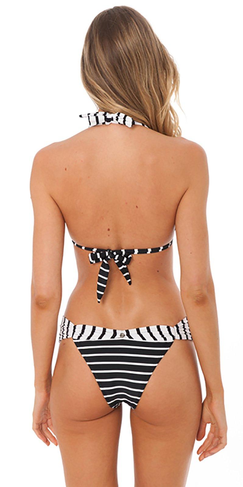 f62f306241 Black   White Bikini In Strips And Polka Dots - Venus Black Geometric