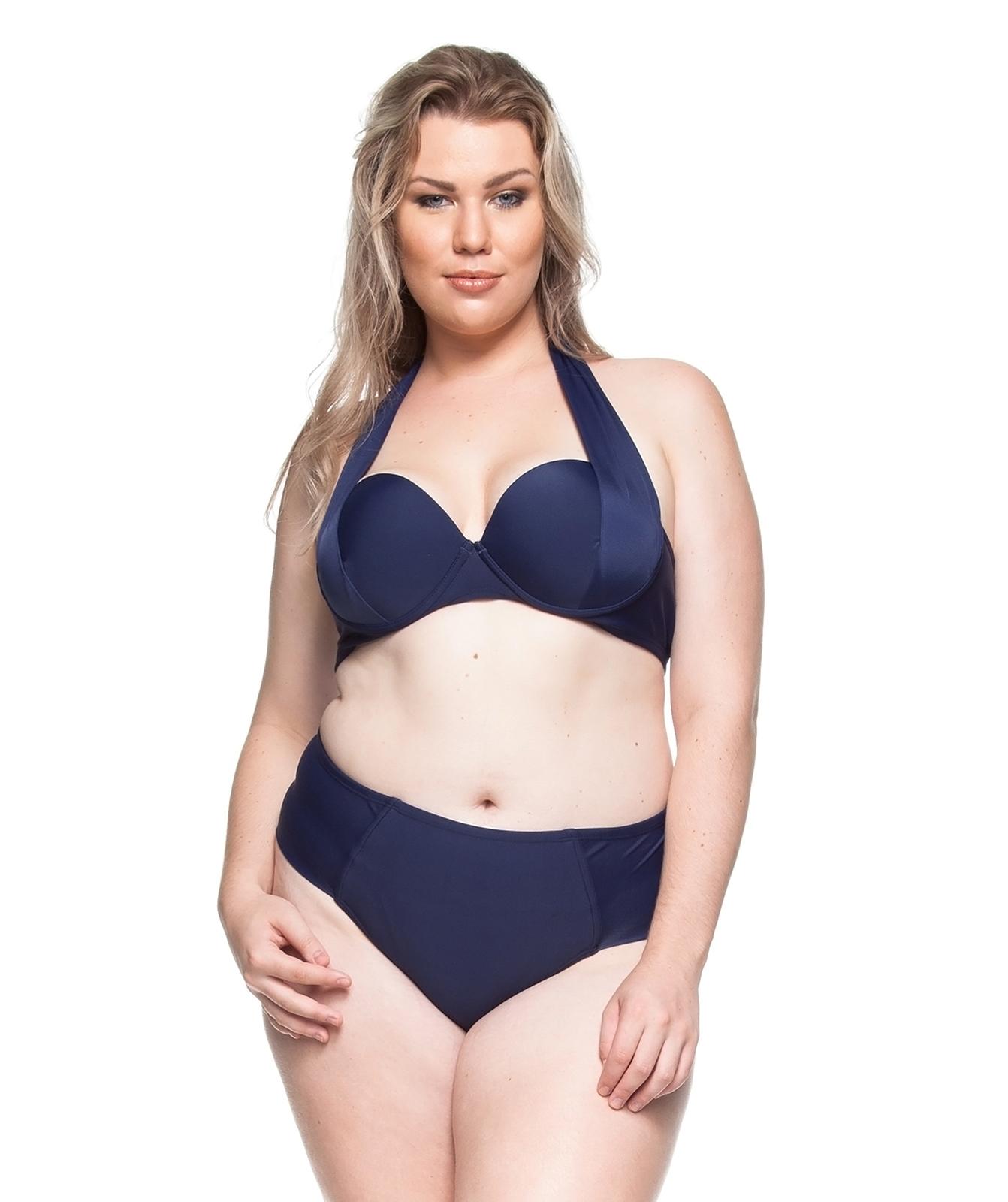 3f3db501b5a1 Bikinis Marinblå Bandeau Bikini, Stora Storlekar - Areias Desertas