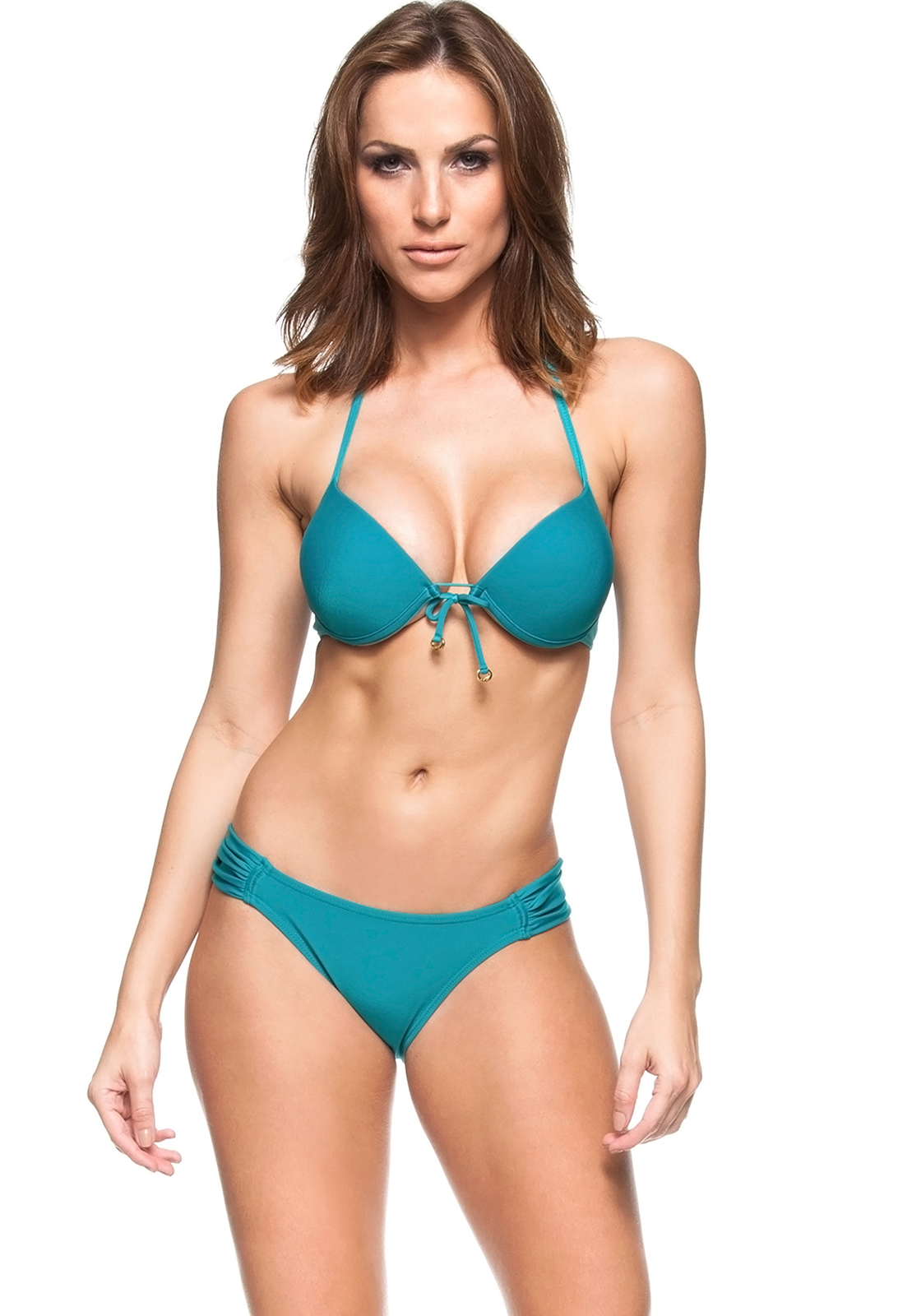 ffd07faa926af Turquoise Blue Push-up Bikini With Underwire - Blue Sky - La Playa
