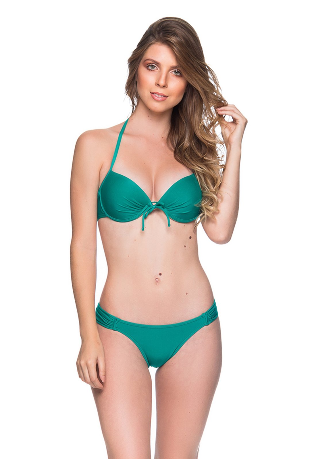 7a9d2d20fc Green Underwired Push-up Balconette Bikini - Bolha Arquipelago - La Playa