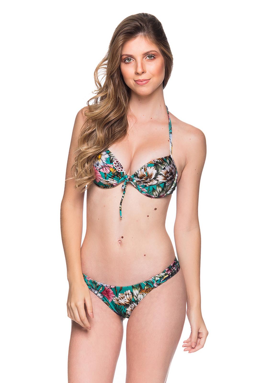 d8d105f6bc Balkonett-bikini med push-up blomstret grønn - BOLHA TROPICAL GARDEN ...