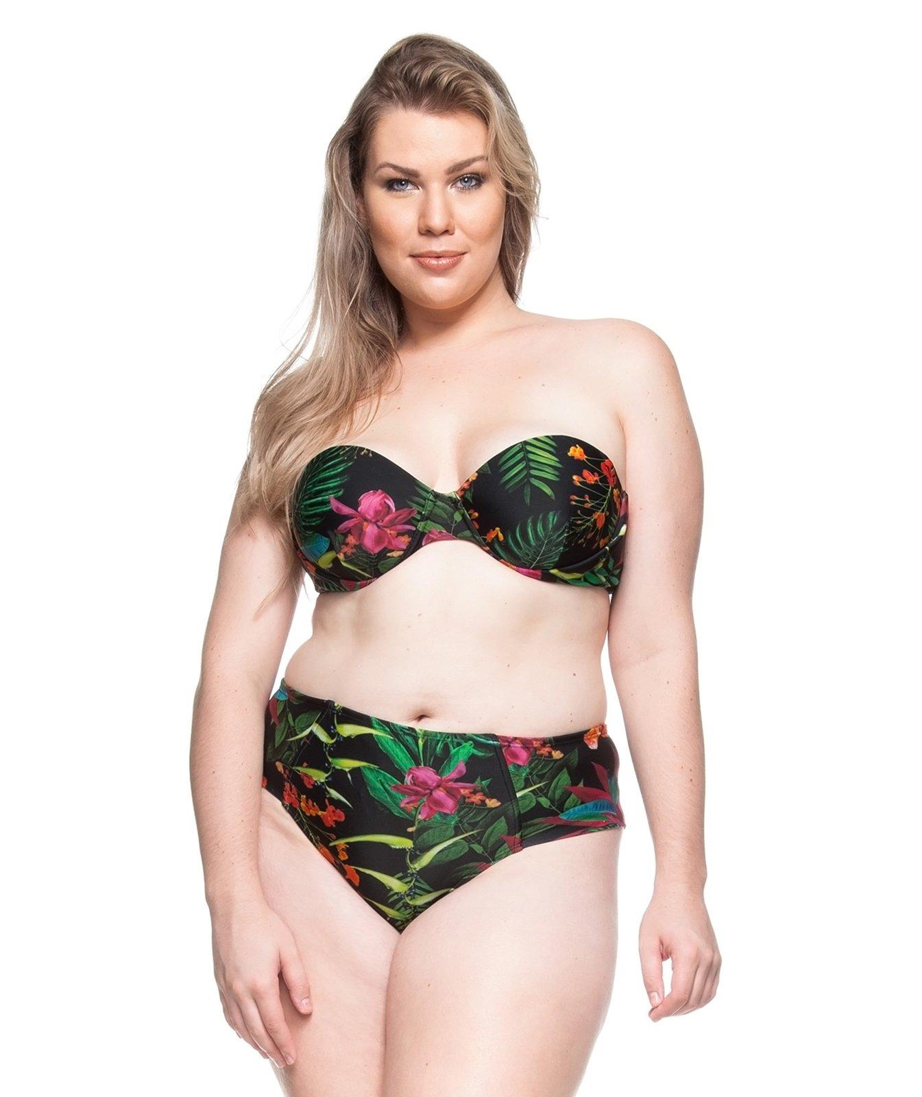 buy popular 29c8e a5ace Bandeau-bikini, Große Größen, Tropenprint - Praia De Guadalupe