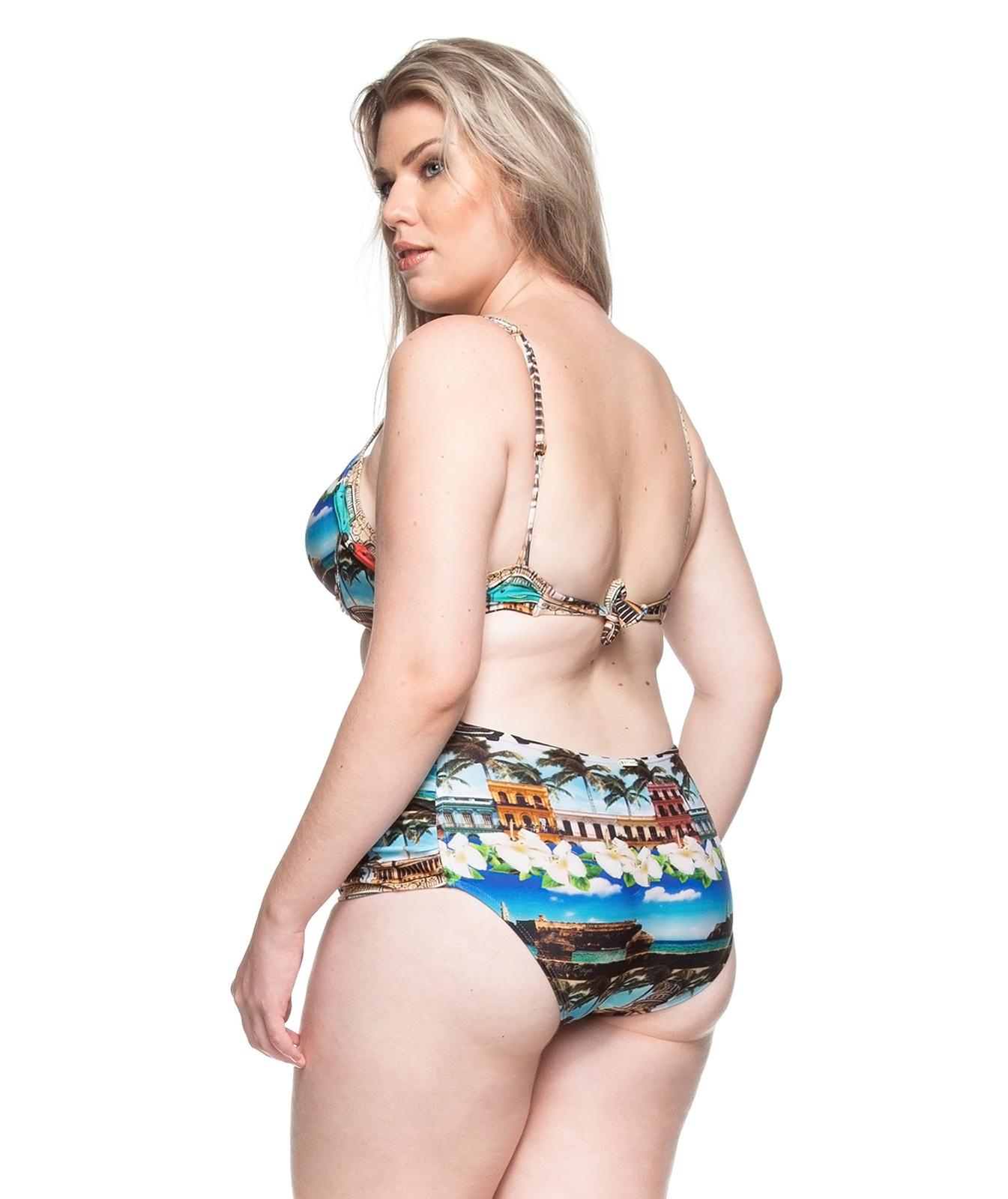eff3ab598b ... Plus-size balconette bikini with tropical print - PRAIA DE PILAR