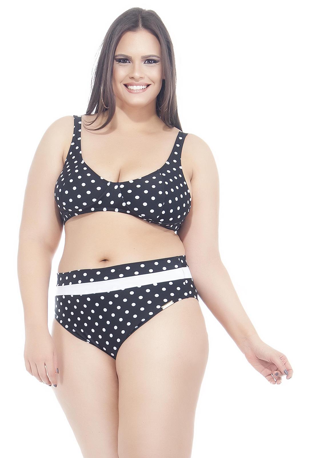 Retro Polka Dot Bra Bikini In Large Sizes Petit Poa