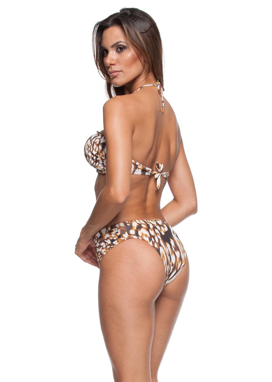 72d059b0d076 ... Leopard print bikini with bandeau top and accessories - DIVA LEOPARD