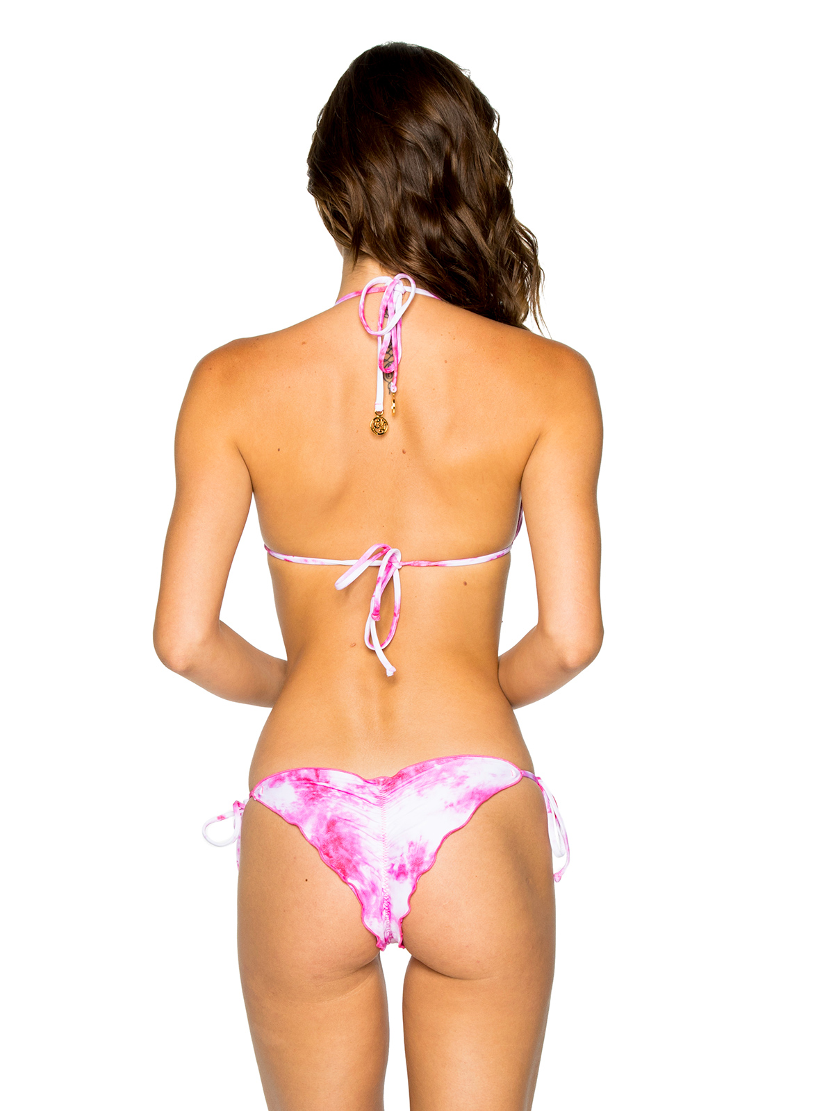 e5f84e8551d2c ... Reversibile scrunch bikini tie dye pink / leaves - SEAMLESS BAMBOLEO ...