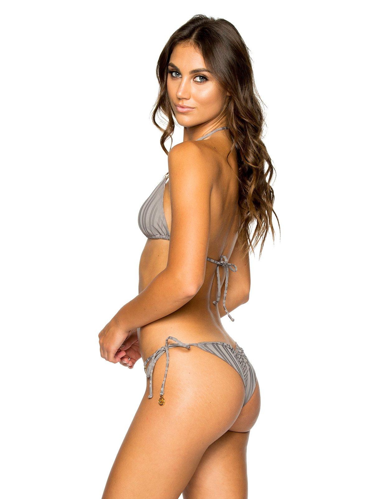 e6bad55b822 ... Triangle grey bikini with rings and scrunch bottom - SEAMLESS GREY TURI  TURAI ...