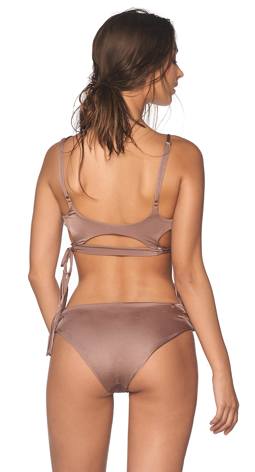 5429f6232b126 ... Iridescent taupe bikini with decorative cutouts - PACIFIC SPARKLY TAUPE